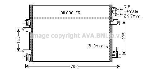 Condenseur / Radiateur de climatisation AVA QUALITY COOLING JE5060D (X1)