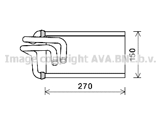 Radiateur de chauffage AVA QUALITY COOLING JE6070 (X1)