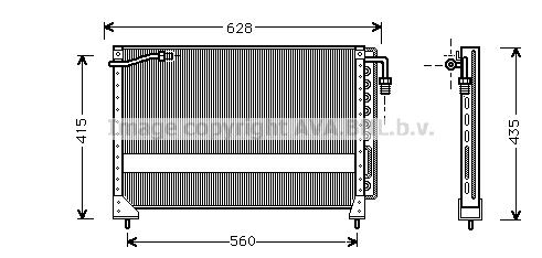 Condenseur / Radiateur de climatisation AVA QUALITY COOLING JR5010 (X1)