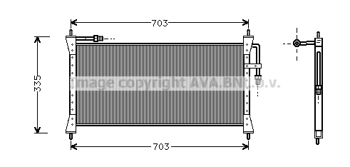 Condenseur / Radiateur de climatisation AVA QUALITY COOLING JR5011 (X1)