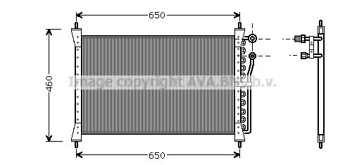 Condenseur / Radiateur de climatisation AVA QUALITY COOLING JR5012 (X1)