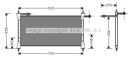 Condenseur / Radiateur de climatisation AVA QUALITY COOLING JR5014 (X1)