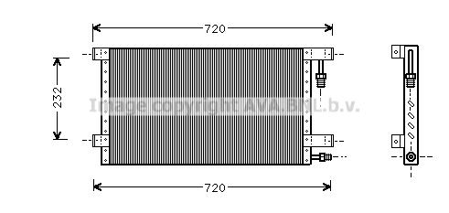 Condenseur / Radiateur de climatisation AVA QUALITY COOLING JR5015 (X1)