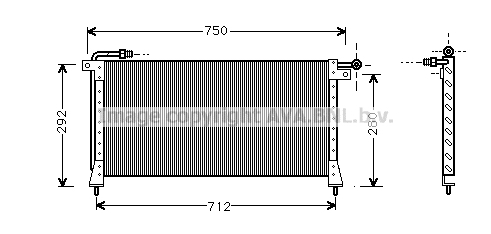 Condenseur / Radiateur de climatisation AVA QUALITY COOLING JR5016 (X1)