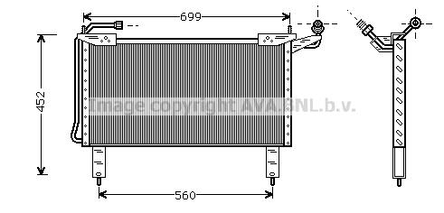 Condenseur / Radiateur de climatisation AVA QUALITY COOLING JR5017 (X1)