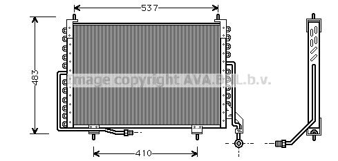 Condenseur / Radiateur de climatisation AVA QUALITY COOLING JR5018 (X1)