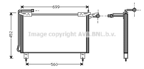 Condenseur / Radiateur de climatisation AVA QUALITY COOLING JR5019 (X1)