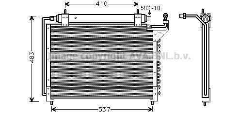 Condenseur / Radiateur de climatisation AVA QUALITY COOLING JR5020D (X1)