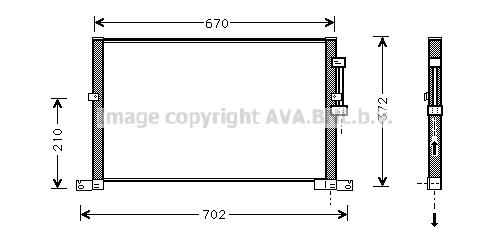 Condenseur / Radiateur de climatisation AVA QUALITY COOLING JR5032 (X1)