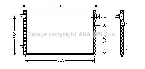 Condenseur / Radiateur de climatisation AVA QUALITY COOLING JR5036 (X1)