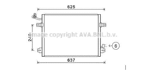 Condenseur / Radiateur de climatisation AVA QUALITY COOLING JR5048 (X1)