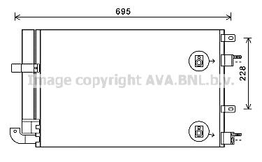 Condenseur / Radiateur de climatisation AVA QUALITY COOLING JR5050D (X1)