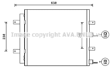 Condenseur / Radiateur de climatisation AVA QUALITY COOLING JR5051D (X1)