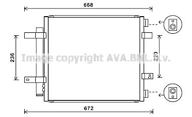 Condenseur / Radiateur de climatisation AVA QUALITY COOLING JR5053D (X1)