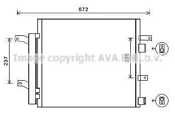 Condenseur / Radiateur de climatisation AVA QUALITY COOLING JR5056D (X1)