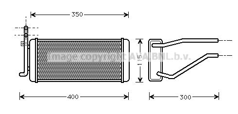 Radiateur de chauffage AVA QUALITY COOLING JR6005 (X1)