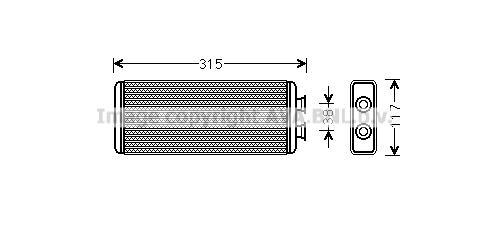 Radiateur de chauffage AVA QUALITY COOLING JR6055 (X1)