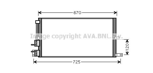 Condenseur / Radiateur de climatisation AVA QUALITY COOLING JRA5043 (X1)
