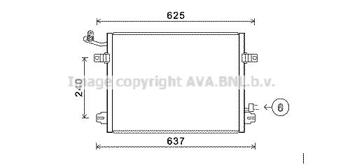 Condenseur / Radiateur de climatisation AVA QUALITY COOLING JRA5048 (X1)