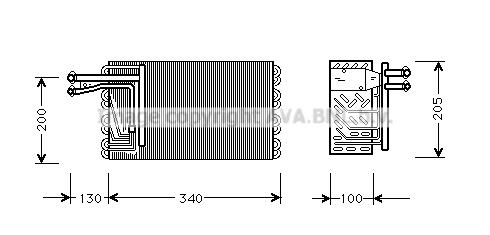 Evaporateur AVA QUALITY COOLING JRV022 (X1)