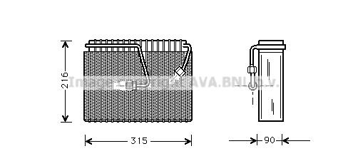 Evaporateur AVA QUALITY COOLING JRV023 (X1)
