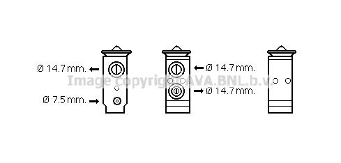 Detendeur de climatisation AVA QUALITY COOLING KA1186 (X1)