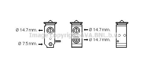 Detendeur de climatisation AVA QUALITY COOLING KA1195 (X1)