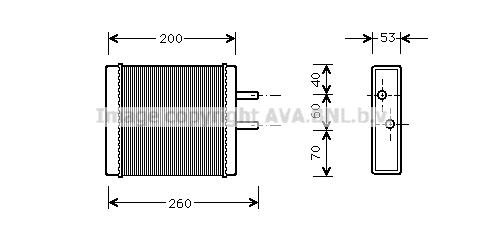 Radiateur de chauffage AVA QUALITY COOLING KA6009 (X1)