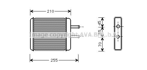 Radiateur de chauffage AVA QUALITY COOLING KA6010 (X1)