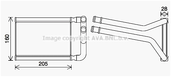 Radiateur de chauffage AVA QUALITY COOLING KA6296 (X1)