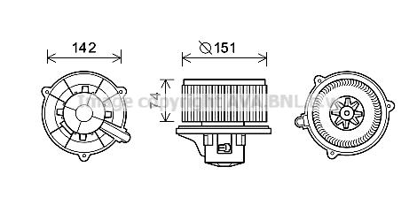 Moteur de ventilateur de chauffage AVA QUALITY COOLING KA8224 (X1)