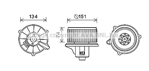 Moteur de ventilateur de chauffage AVA QUALITY COOLING KA8227 (X1)