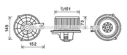 Moteur de ventilateur de chauffage AVA QUALITY COOLING KA8233 (X1)