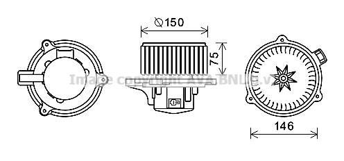 Moteur de ventilateur de chauffage AVA QUALITY COOLING KA8241 (X1)