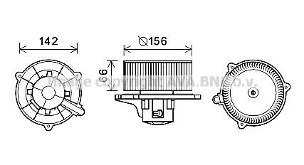 Moteur de ventilateur de chauffage AVA QUALITY COOLING KA8254 (X1)