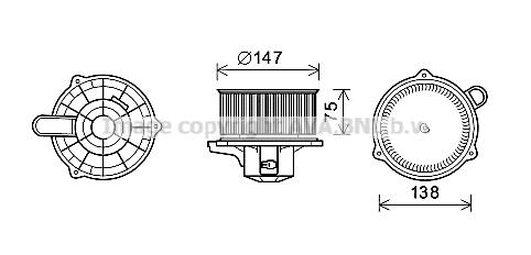 Moteur de ventilateur de chauffage AVA QUALITY COOLING KA8262 (X1)