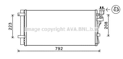 Condenseur / Radiateur de climatisation AVA QUALITY COOLING KAA5148D (X1)