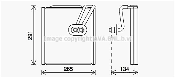 Evaporateur AVA QUALITY COOLING KAV292 (X1)
