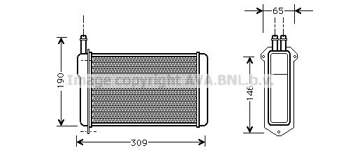 Radiateur de chauffage AVA QUALITY COOLING LA6009 (X1)