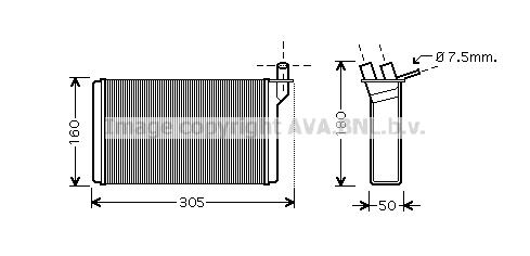Radiateur de chauffage AVA QUALITY COOLING LA6018 (X1)