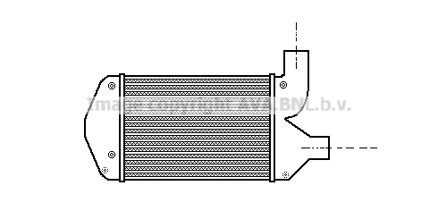 Intercooler radiateur de turbo AVA QUALITY COOLING LC4001 (X1)