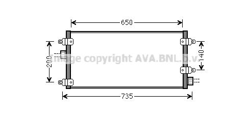 Condenseur / Radiateur de climatisation AVA QUALITY COOLING LC5095 (X1)