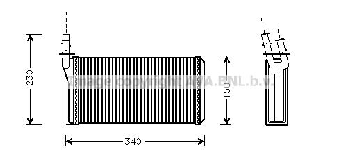 Radiateur de chauffage AVA QUALITY COOLING LC6074 (X1)