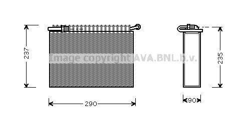 Evaporateur AVA QUALITY COOLING LCV006 (X1)