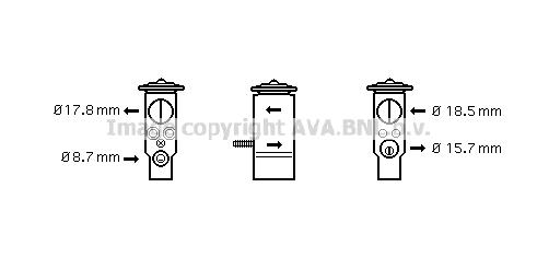 Detendeur de climatisation AVA QUALITY COOLING MC1005 (X1)