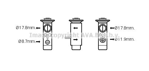 Detendeur de climatisation AVA QUALITY COOLING MC1017 (X1)