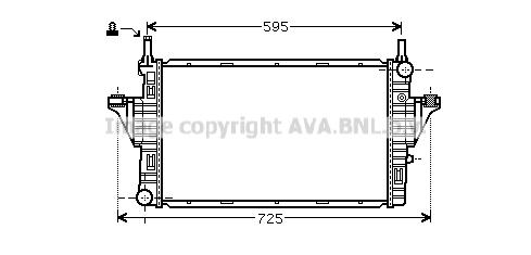 Radiateur de refroidissement AVA QUALITY COOLING MC2006 (X1)