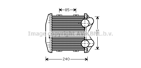 Intercooler radiateur de turbo AVA QUALITY COOLING MC4003 (X1)