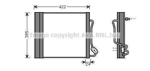 Condenseur / Radiateur de climatisation AVA QUALITY COOLING MC5001D (X1)
