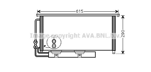 Condenseur / Radiateur de climatisation AVA QUALITY COOLING MC5007D (X1)